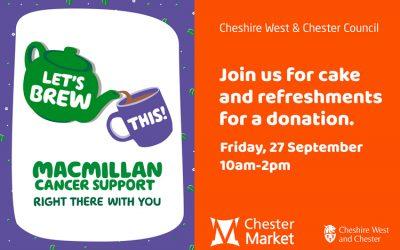 Macmillan Cancer Support – Friday 27 September