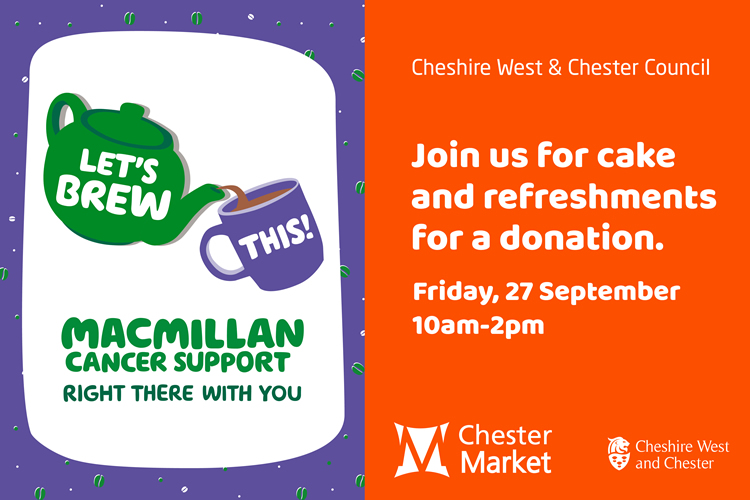 Macmillan Cancer Support – Friday 27 September